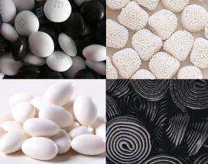 Cookie decorating black and white candy