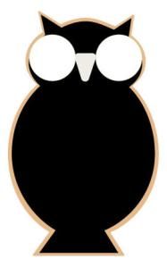 Cookie decorating template - Fashion Owl Cookie