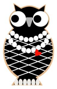 Sweet Dani B Cookie decorating template - Fashion Owl Cookie