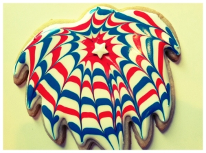 SDB Firework Cookie Marbelized Spiral