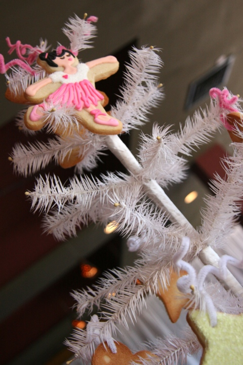 White Feather Tree with Leaping Ballerina