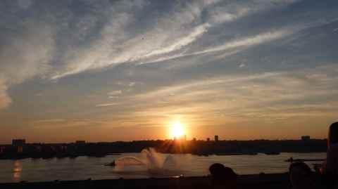 a beautiful july 4th sunset