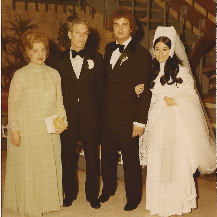 Grandma Nettie & Grandpa Nick with my Parents on their Wedding Day