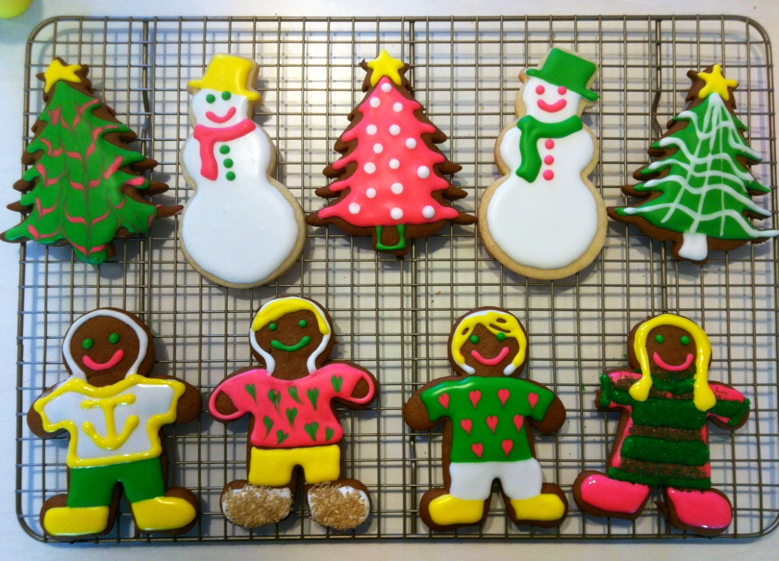 Kathleen's Family Portrait in Christmas Cookies