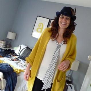 Amanda-feather-hat-yellow