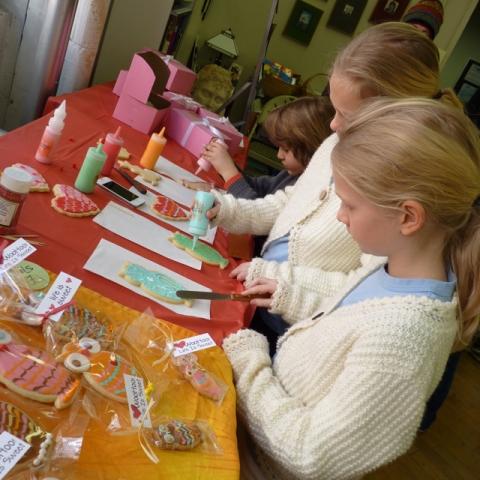 SDB demo sisters icing cookies