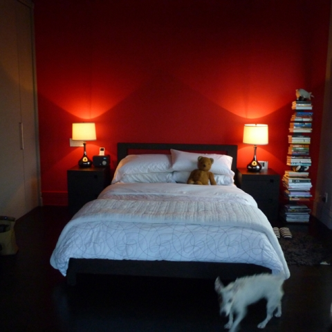 Red Bedroom wall