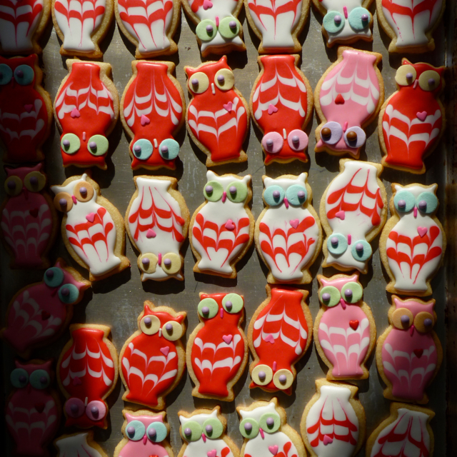 SDB Mini Owl Decorative Cookies