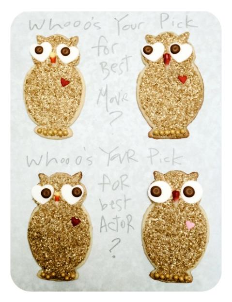 Sweet Dani B Custom Oscar Owl Cookies Serving idea
