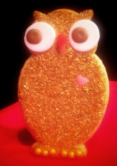 SDB Owl Custom cookie Red Carpet