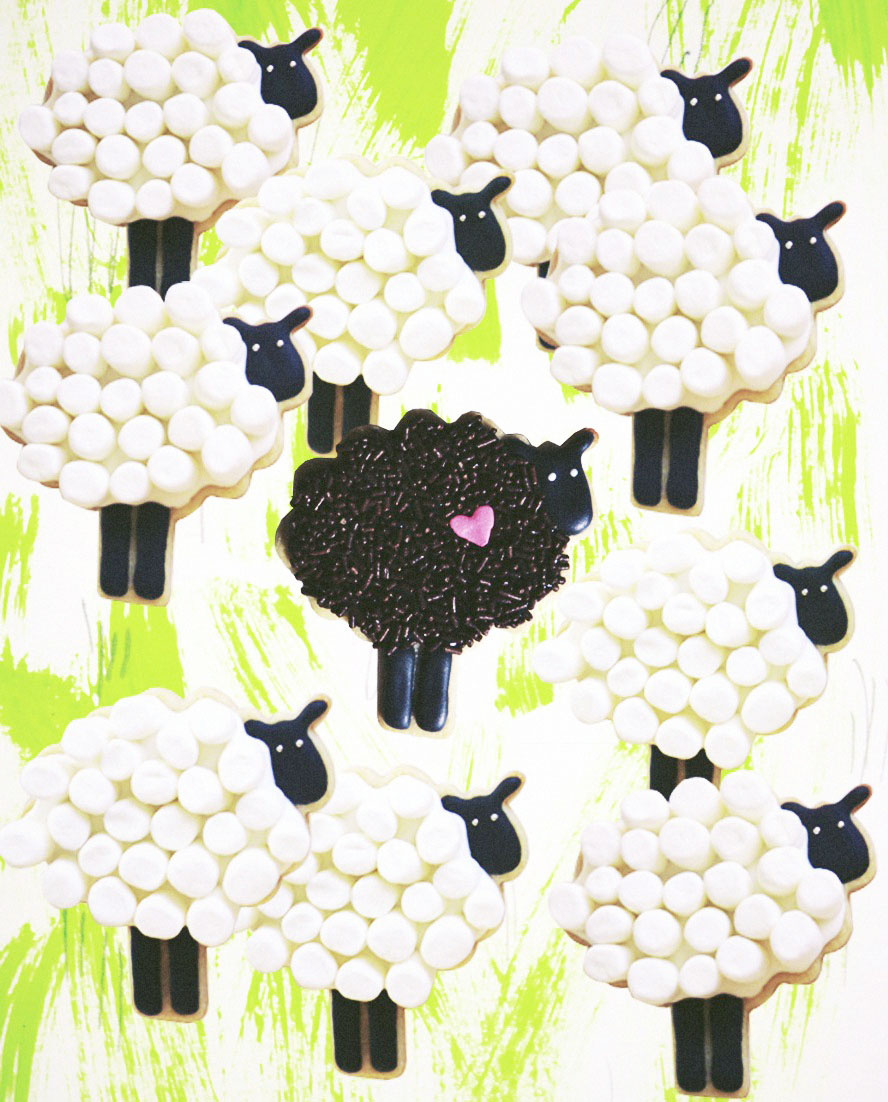 Sweet Dani B Custom Sheep Cookie Layout