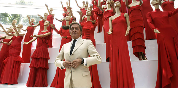 Valentino and his red dress collection